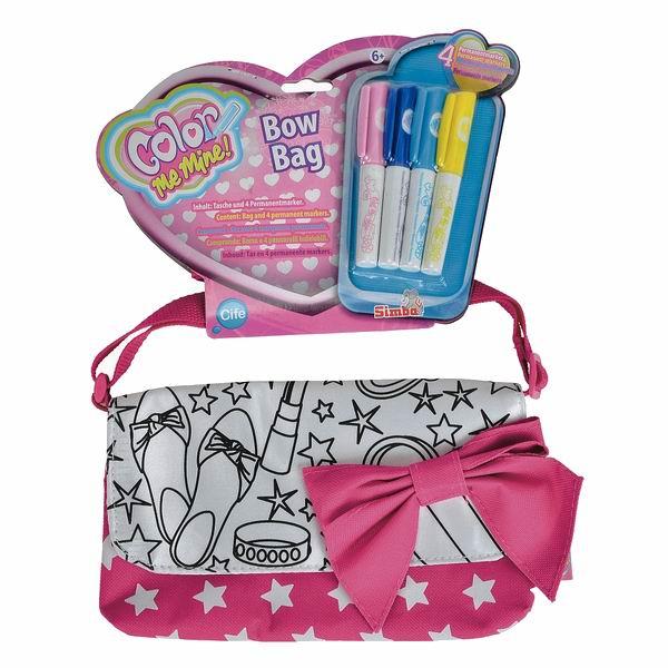 Заготовки под роспись Color me mine Мини-сумочка 21 см, 4 перманентных маркера color me mine рюкзак 5 перманентных маркеров