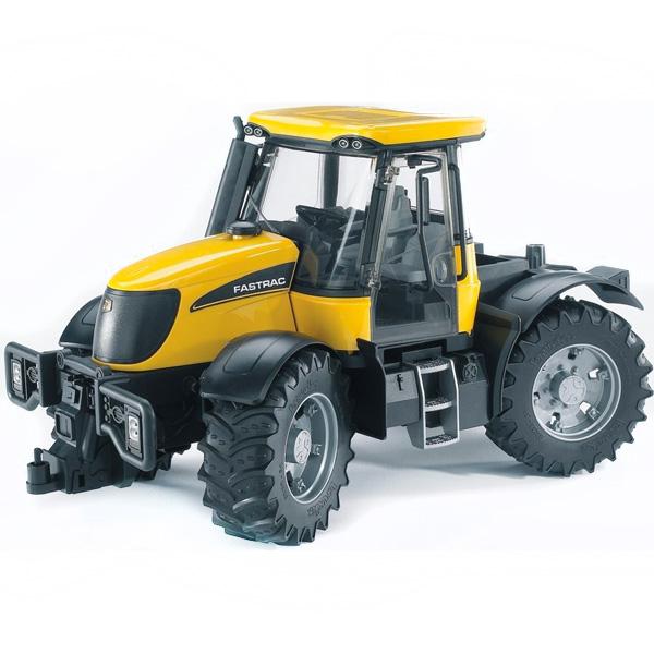 Bruder Трактор JCB Fastrac 3220Трактор JCB Fastrac 3220Трактор Bruder JCB Fastrac 3220   Особенности:    Мощный бампер обеспечен сохранность техники при преодолении сложный дорожных участков.   Дополнительный руль пригодится для управления поворотом колес.   Прорезиненные колеса не создают царапин и следов на поверхностях разного типа.  Этот мощный трактор JCB Fastrac 3220 пригодится для организации интересных игровых процессов.   Cоздан в масштабе 1 к 16, поэтому идеально совместим с иными машинками, автомобилями и спец. техникой Брудер соответствующей серии.<br>