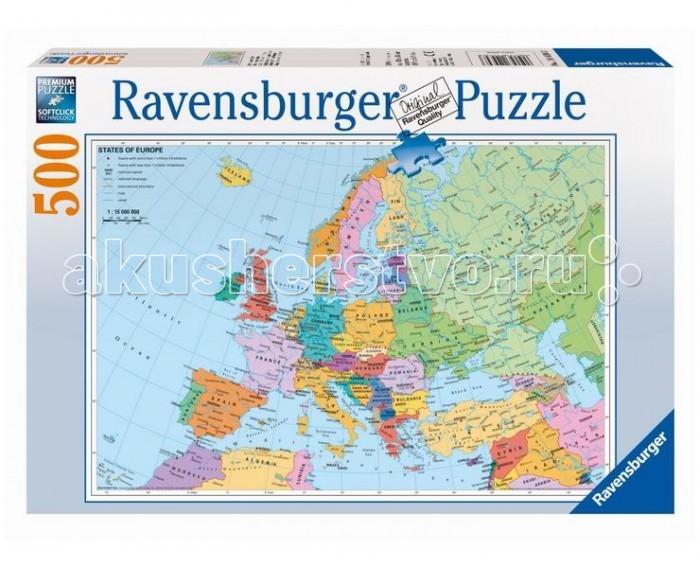 Пазлы Ravensburger Пазл Политическая карта Европы 500 элементов