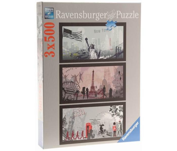 Пазлы Ravensburger Пазл Городской стиль 3х500 элементов ravensburger 100 шт городской транспорт