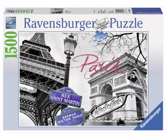 Пазлы Ravensburger Пазл Мой Париж 1500 элементов ravensburger пазл черно белый париж