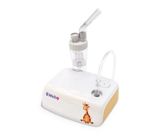B.Well Компрессорный ингалятор MED-125Компрессорный ингалятор MED-125B.Well Компрессорный ингалятор MED-125 - это эффективная терапия нижних дыхательных путей с инновационным распылителем Family, который позволяет регулировать скорость распыления лекарства и адаптировать ее специально для детей. Небулайзер идеально подходит для детей с рождения – в комплекте у него младенческая и детская маски.  Особенности: Тихий и компактный Комфортно для детей с рождения - детская и младенческая маски в комплекте Наклейки в подарок!  Держатель распылителя для удобства использования Медицинская эффективность в соответствие с  Европейским стандартом EN13544 для небулайзеров Мощность потребления &#8804;12 Ватт Максимально допустимое давление: 110 кПа;  Рабочее давление: 55 кПа Воздушный поток: &#8805; 2 л/мин Уровень шума: &#8804; 46 dB Режим работы: 30 мин вкл / 30 мин отдых Скорость распыления (при использовании 0,9% физиологического раствора): 0,08 - 0,3 мл/мин (в зависимости от положения клапана и применяемого лекарства) Эффективная терапия нижних дыхательных путей с инновационным распылителем Family: Средний размер частиц (MMAD) &#8804; 3.0 микрон Высокий % респирабельной фракции (частиц менее 5 микрон) &#8805; 70% Регулятор силы лекарственного потока для каждого члена семьи Распылитель Family: Емкость распылителя: 2-5 мл Размер частиц (MMAD): &#8804; 3.0 &#956;m (микрон) Респирабельная фракция (% частиц < 5 микрон) &#8805; 70% Остаточный объем распылительной камеры: 0,65 мл В комплекте: Ингалятор медицинский (компрессорный небулайзер) Распылитель Family 2-5 мл Воздушный шланг 1,5 м Мундштук Маска детская Маска младенческая Набор фильтров (5 шт.)  Сетевой адаптер Сумка для хранения Наклейки в подарок Руководство по эксплуатации и гарантийный талон<br>