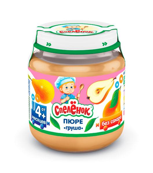 Пюре Спеленок Пюре Груша с 4 мес. 125 г пюре спеленок пюре морковь с витамином с с 5 мес 125 г