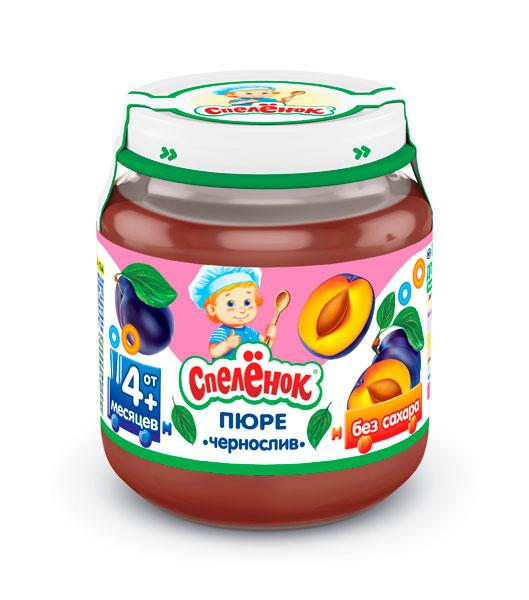 Пюре Спеленок Пюре Чернослив с 4 мес. 125 г спеленок пюре морковь с яблоком с 5 мес 80 гр