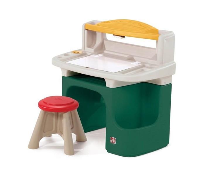 Step 2 Парта для детей Арт МастерПарта для детей Арт МастерЭта парта замечательное рабочее место для вашего ребенка! Удобная и функциональная парта поможет разместить много своих принадлежностей. Можно рисовать, играть и обучаться. Прочная безопасная конструкция. Прослужит долгие годы.  Характеристики: изготовлена из высококачественного прочного пластика подходит для детей от 3 лет оригинальный дизайн товар сертифицирован устойчивая безопасная конструкция обтекаемая форма, без острых углов  столик со встроенными отделениями для хранения принадлежностей широкая столешница для письменных работ с отделением для хранения рисунков и тетрадей желтая полочка на столике для карандашей, маркеров и т.д. встроенная лампа для подсветки стола (требуется 3 батареи питания ААА, в комплект поставки не входят) по бокам столика специальные ящики для хранения книг, альбомов задняя полочка для большего хранения к парте прилагается 1 табурет парта легко моется при установке требуется минимальное участие взрослых прочная конструкция прослужит вашим детям долгие годы   Размеры(дхшхв) 86.4x45.7x91.4 см Вес 12.7 кг<br>