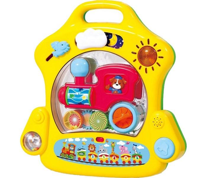 Playgo Развивающий игровой центр для самых маленькихРазвивающий игровой центр для самых маленькихРазвивающий игровой центр для самых маленьких (панель крепится на кроватку) со световыми и звуковыми эффектами(музыкальная шкатулка), для исследования и развития координационных навыков вашего ребёнка.   Работает от 3-х батареек формата LR6 АА 1.5V (в комплекте)<br>
