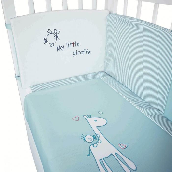 Постельное белье Fairy Жирафик 140х70 (3 предмета) комплекты в кроватку fairy жирафик 120х60 7 предметов