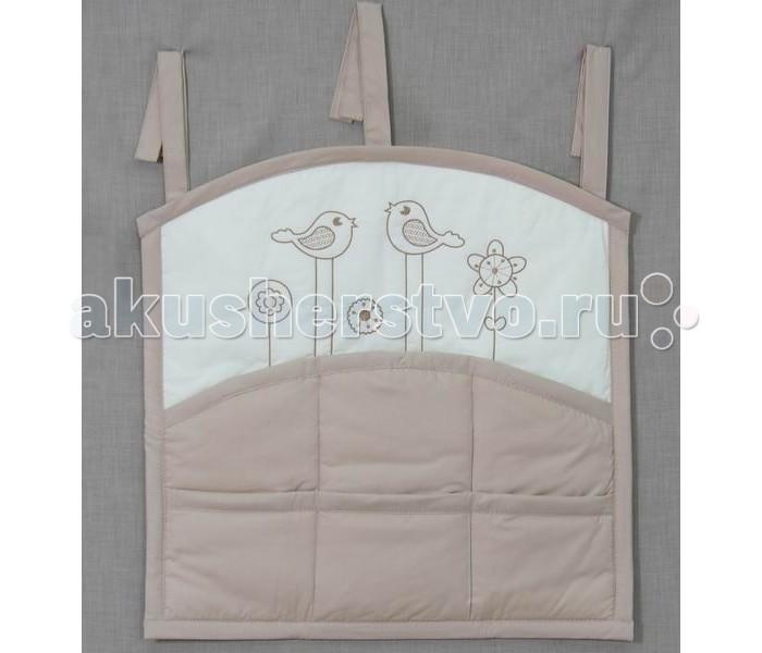 Карманы и панно Fairy Карман для кроватки Волшебная полянка сумка для пеленок и подгузников fairy волшебная полянка цвет бежевый 50 см х 40 см
