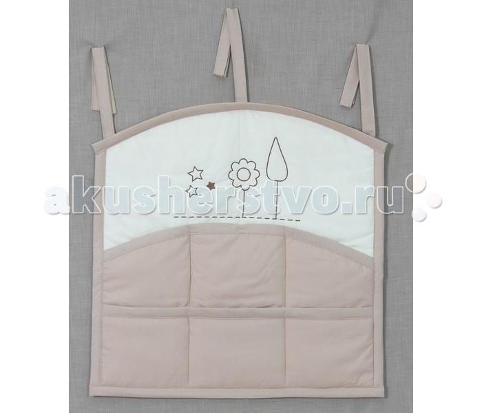 Карманы и панно Fairy Карман для кроватки Я и моя мама сумка для пеленок и подгузников fairy я и моя мама цвет бежевый 50 см х 40 см
