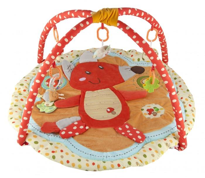 Развивающий коврик ROXY с дугами Лисичка и ее друзьяс дугами Лисичка и ее друзьяРазвивающий коврик Roxy с дугами Лисичка и ее друзья откроет перед вашим малышом целый сказочный мир, изобилующий изображениями и мягкими объемными деталями, имитирующими ландшафт. Развивающий коврик – как раз то самое, что нужно новорожденному малышу, только-только начинающему познавать внешнее пространство.   Коврик поможет ребенку сориентироваться в окружающем мире и подготовит его к новым важным открытиям, которые малыш будет совершать месяц за месяцем по мере взросления.  Особенности: Развивающий коврик призван выполнять для ребенка функцию тренажера, развивая у него цветовое, зрительное и сенсорное восприятие Яркая, красочная лисичка станет для малыша проводником в сказочный мир, населенный лесными обитателями и растениями Есть возможность пристегнуть к коврику дугообразную арку с мягкими подвесками в виде совки, елочки и грибочка, а также погремушкой – прорезывателем. Это позволит малышу почувствовать себя еще более защищенным в своем маленьком сказочном мире, напоминая о тех временах, когда он еще находился в животике у мамы Коврик сделан из материала 5-ти различных на ощупь фактур, что сделает пребывание в этом сказочном мире еще более интересным и полезным для малыша Развивающий коврик с дугами произведен из безопасных материалов, не вызывающих аллергии Обращаем ваше внимание на то, что реальный цвет коврика может немного отличаться от цветов на экране вашего монитора  Размеры: 62 х 79 х 7 см<br>
