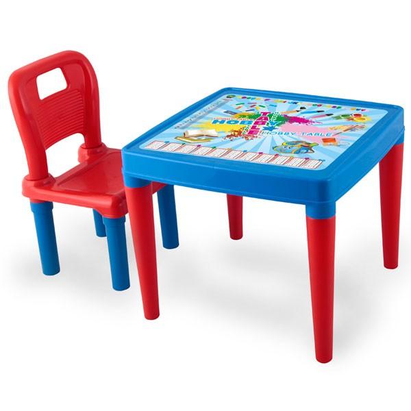 Pilsan Набор из стола и стульчикаНабор мебели (стол+стул) Pilsan - набор из стола и стула для детей от 3 лет.  Очень удобный набор, который будет служить вашему ребенку на протяжении нескольких лет. У малыша теперь будет собственное место для занятий творчеством, игр и обучения, яркое и удобное.  Размеры стола: ширина - 50.5 см, длина - 50.5 см, высота - 42 см. Размер стула: 52.5 х 32 х 30 см. Максимальная нагрузка: 35 кг  Цвета в ассортименте.  Компания Pilsan начала свою историю в 1942 году. Сегодня – это компания-гигант индустрии крупногабаритных детских игрушек, которая экспортирует свою продукцию в 57 стран мира. Компанией выпускается 146 наименований продукции – аккумуляторные и педальные автомобили, велосипеды, развивающие игрушки и аксессуары для детей. Вся продукция Pilsan сертифицирована и отвечает международным стандартам качества.<br>