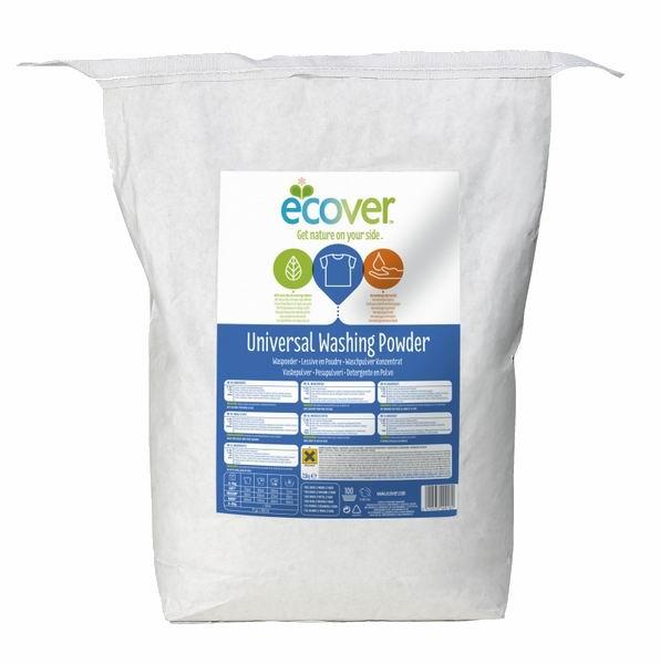 Ecover Экологический стиральный порошок-концентрат универсальный 7.5 кгЭкологический стиральный порошок-концентрат универсальный 7.5 кгУниверсальный порошок-концентрат для белого и нелиняющего цветного белья с высокой эффективностью стирки. Безопасен при контакте как для детей, так и для взрослых. Формула содержит малое количество кислородного отбеливателя для отличного удаления трудновыводимых пятен. Полностью выполаскивается.  Формула-концентрат позволяет экономить расход порошка на четверть по сравнению с обычной формулой. Позволяет не добавлять специальные средства от накипи в стиральную машинку. Обладает натуральным ароматом. Кислородный отбеливатель в составе порошка полностью натурален.  Состав не содержит фосфатов и синтетических ароматизаторов. Содержит энзимы (без ГМО).  Состав: 15-30% анионные натуральные ПАВ на растительной основе, алюминат натрия, кислородный отбеливатель (пероксид карбонат натрия); 5-15% неионный этаксилад метилового эфира рапсового масла, силикат натрия;<br>