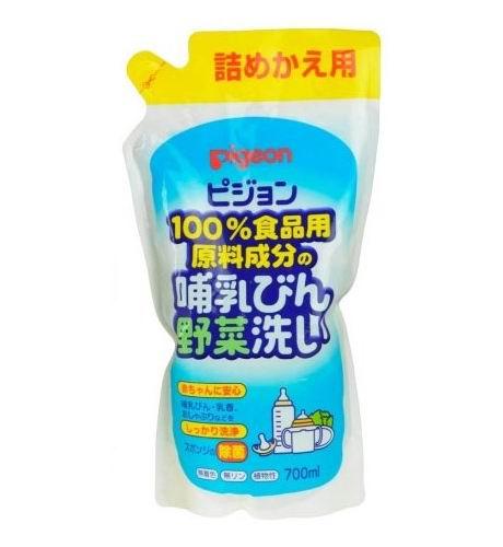 Детские моющие средства Pigeon Средство для мытья бутылочек и овощей (сменный блок) 700 мл pigeon и овощей 800 мл