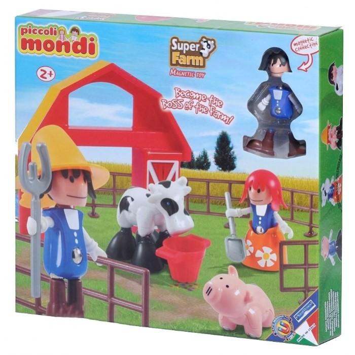 Конструктор Plastwood Piccoli Mondi Super FarmPiccoli Mondi Super FarmPlastwood Piccoli Mondi Super Farm - это замечательный магнитный конструктор, из деталей которого можно сконструировать целую ферму с прелестными домашними животными и собрать фигурки фермеров.  Данный набор подарит массу положительных эмоций вашему ребенку. Он способствует развитию логического и пространственного мышления, а также мелкой моторики.  Возраст ребенка: 2+ Количество деталей: 23  В КОМПЛЕКТЕ: Мальчик-фермер Девочка-фермер Сарай Забор (6 шт.) Свинка Корова Овечка Лошадь Лопата Вилы Ведерко Игровое поле 94х68 см.<br>