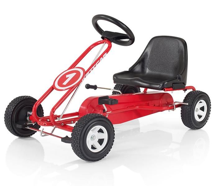 Kettler Веломобиль Кетткар SpaВеломобиль Кетткар SpaКетткар Kettler Spa - станет отличным подарком для начинающего гонщика. Эта детская педальная машина так похожа на настоящий гоночный автомобиль. Она выполнена из стали высокой прочности и имеет антикоррозийное покрытие. Такая надёжная машина прослужит Вам долгое время, она способствует физическому развитию ребенка, тренирует мышцы ног, моторику и реакцию.  Особенности детского кетткара Kettler Spa: Стальная рама, покрытая антикоррозионным порошковым полиэстеровым покрытием Регулируемое пластиковое сиденье передвигаемое по раме под длину ног Откючение педалей, для безопасности ребёнка при толкании сзади Ручной тормоз на задние колёса Спортивные колёса с широким профилем и спортивными дисками Поставляется в разобранном виде, сборка не требует специальных навыков Цветная коробка Проверено немецкой технической комиссией TUV, что и подтверждается значками и сертификатами TUV/GS (проверенная безопасность)  Возраст ребенка: от 3 до 8 лет. Рост ребенка: 90-110 см. Размеры кетткара: 90 см х 58 см х 55 см. Вес: 11 кг.<br>