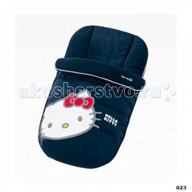 Демисезонный конверт Brevi Inuit Hello KittyInuit Hello KittyBrevi Утепленный конверт Inuit Hello Kitty.   Предназначено для детей от рождения до полутора лет.  Отправляясь с малышом на зимнюю прогулку, необходимо позаботиться о соответствующей экипировке. Этот утепленный конверт для сна окажется просто незаменимым в холодное время года.   Он надежно защитит вашего ребёнка от ветра, холода и снега, малыш сможет спокойно спать на свежем воздухе даже в морозные дни. Внутренняя отделка утепленного конверта сделана из мягкого флиса.  Внешнее покрытие изготовлено из водоотталкивающей ткани. Конверту не страшен дождь или снег, который может попасть в коляску.  Основные характеристики: полностью соответствует европейским стандартам качества эксклюзивный дизайн конверт подойдет к любой модели прогулочной коляски на конверте имеется удобная застежка-молния легко стирать возможность использования не только для прогулок, но и дома вместо теплого одеяльца.<br>