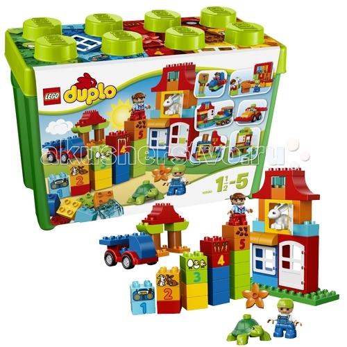 Конструктор Lego Duplo 10580 Лего Дупло Набор для весёлой игрыDuplo 10580 Лего Дупло Набор для весёлой игрыКонструктор Lego Duplo 10580 Лего Дупло Набор для весёлой игры состоит из 95 больших кубиков.  Начните знакомство с веселым миром конструирования с помощью этого набора LEGO® DUPLO®!  В коробке множество кубиков, из которых можно собирать самые разные конструкции – ребенок ни в чем не ограничен в своей фантазии.  Кроме классических кубиков, в наборе есть и специальные, с цифрами и картинками. Учиться считать с конструктором Лего будет гораздо веселее!  В комплект входят 2 мини фигурки детей и 2 фигурки животных – кролик и черепаха.  Конструктор включает базовую деталь кузова и элементы для конструирования домов – окна, дверные проемы.   Все кубики Лего Дупло окрашены в яркие, сочные цвета. Конструктор упакован в красивую коробку в фирменно стиле Lego.  В набор входит: 2 минифигурки людей и 2 фигурки животных классические кубики специальные кубики для обучения – с цифрами и картинками элементы для строительства домов – оконные и дверные проемы инструкция по сборке. Количество деталей: 95 шт.  Конструктор хранится в большой пластиковой коробке в стиле Лего.<br>