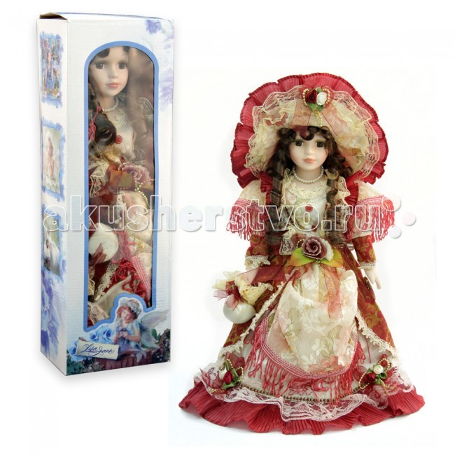Куклы и одежда для кукол Lisa Jane Кукла фарфоровая Лаура 16 40.6 см lisa jane кукла фарфоровая дина