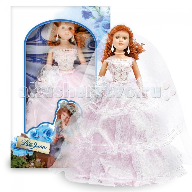 Куклы и одежда для кукол Lisa Jane Кукла фарфоровая Лоретта 12 30.5 см lisa jane кукла фарфоровая дина