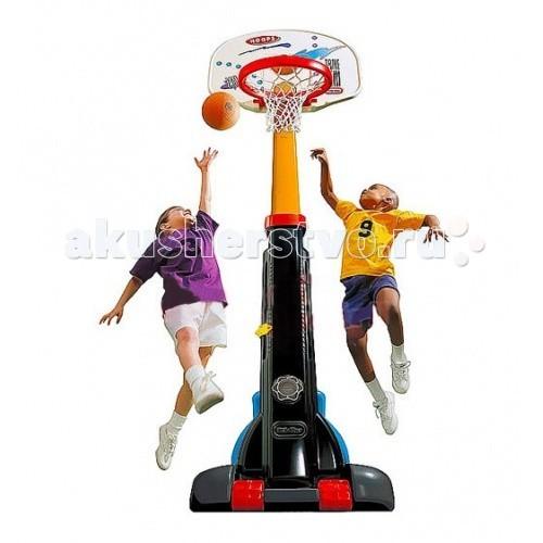 Little Tikes Баскетбольный щит раздвижной 210 см 4339Баскетбольный щит раздвижной 210 см 4339Раздвижной баскетбольный щит Little Tikes (Литл Тайкс) выполнен в ярких цветах, что обязательно понравится детям.   Он имеет 5 уровней регулировки высоты от 150 до 210 см, что позволит ему расти вместе с вашим ребенком и послужит отличным развлечением на протяжении нескольких лет.   По окончании дачного сезона щит можно сложить до компактных размеров и убрать, удобные колеса облегчат вам его перенос.   В комплекте со щитом продается мяч, имитирующий настоящий баскетбольный, но меньше по размеру и значительно мягче, что идеально подходит для детей, т.к. не может травмировать их в процессе игры.   При изготовлении щита применяется метод центробежного литья, что позволяет сделать его ударопрочным и устойчивым к перепадам температур (до - 18 С).<br>