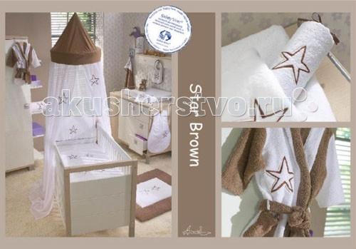 Балдахин для кроватки Anel Star Brown KlambooStar Brown KlambooГолландская компания Anel была организована в Амстердаме в 1975 году. С первых коллекций компания специализировалась на производстве высококачественных постельных принадлежностей для детей. Современный дизайн и цвета постельного белья украсят комнату малыша и доставят удовольствие молодым родителям при оформлении детской комнаты.  Полог для кроватки Star Brown Klamboo Anel создаст уютную обстановку, ваш ребенок будет укрыт великолепным балдахином от раздражающих воздействий и насладится волшебными сновидениями. Необычный купол полога создаст сказочную атмосферу.   Характеристики: изготовлен из высококачественного хлопка соответствие международным стандартам гипоаллергенные материалы крепится на штангу, регулируемую по высоте и устанавливаемую на пол можно стирать в стиральной машине<br>