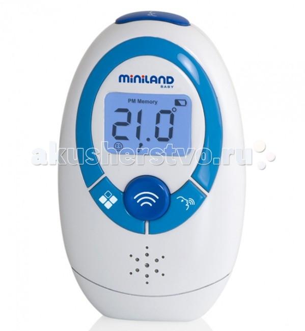 Термометр Miniland бесконтактный Thermoadvanced plusбесконтактный Thermoadvanced plusМногофункциональный бесконтактный термометр от компании Miniland с возможностью передачи данных на смартфон.   Современный термометр Miniland Thermoadvanced plus измеряет температуру с помощью инфракрасной технологии, с минимальным воздействием на ребенка. Он легко, быстро, а главное -точно измерит температуру тела, а также температуру детского молока, воды в ванночке, детского питания и т.д.   Отличительные особенности термометра Miniland Thermoadvanced plus: Технология: инфракрасный датчик Бесконтактное измерение температуры со лба ребенка Бесконтактное измерение температуры предметов и жидкостей (например, молока, детского питания или воды в детской ванночке), а также измерение температуры в комнате  Передача данных на смартфон для записи, хранения и контроля температуры ребенка через приложение eMyBaby для телефонов и планшетов Результат измерения готов через 1-2 секунды  Предупреждение о повышенной температуре Хранит информацию о 9 последних измерения (температура - дата - что измерялось) Цифровой ЖК-дисплей Голосовое воспроизведение информации на 6 языках, в том числе и на русском Беззвучный режим Часы и календарь Автоматическое отключение через 3 минуты – экономный режим питания  Сигнал разряда батареи Компактный, удобный мешочек для хранения в комплекте Размер (BхШхГ): 89 х 53 х 35 мм Вес: 56 г (без батареек) Комплектация:  - 1 инфракрасный термометр с голосовой функцией  - 1 сумка для хранения и перевозки  - 2 батарейки AAA  - 1 инструкция и гарантия   Измерение температуры тела (лоб): Диапазон: 32,0 ~ 42,9 °C  Точность: от ± 0,2 до ± 0,3 °C   Измерение температуры др. объектов, жидкостей: Диапазон: 20,0 ~ 60,0 °C  Точность: ± 1,2 ° C   Измерение температуры помещений:  Диапазон: 5,0 ~ 59,9 °C  Точность: ± 1,0 °C   Для получения указанной точности все измерения необходимо производить при температуре в помещении от 15 до 40 °C и относительной влажности: от 20 до 85%<br>