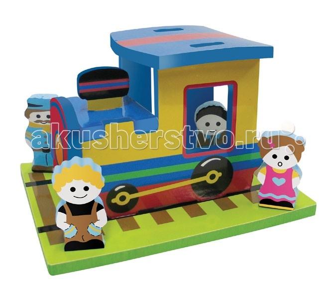 Игрушки для ванны Edushape Мягкий конструктор Поезд toys lab конструктор цирковой поезд