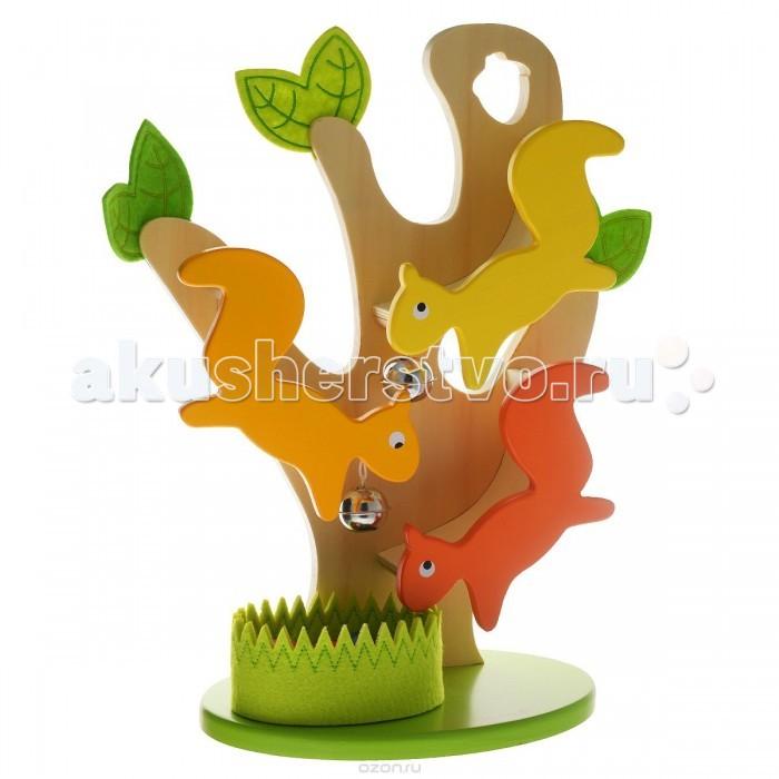 Деревянная игрушка Janod Игра Белка с орешкамиИгра Белка с орешкамиИгра Белка с орешками от 1,5 лет.  Игрушка представляет собой дерево с 3 белочками и разноцветными орешками.  Все элементы яркого и познавательного набора выполнены из дерева.  Эта игрушка многофункциональна. Играя, ребенок повторяет основные цвета, учится обобщать, считать.  Игрушка упакована в красивую подарочную коробку.  Вес: 1,38 кг Материал: дерево, металл<br>