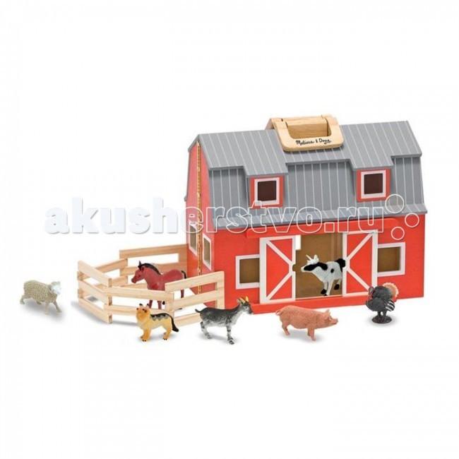 Деревянная игрушка Melissa & Doug Создай свой мир Загон и амбар