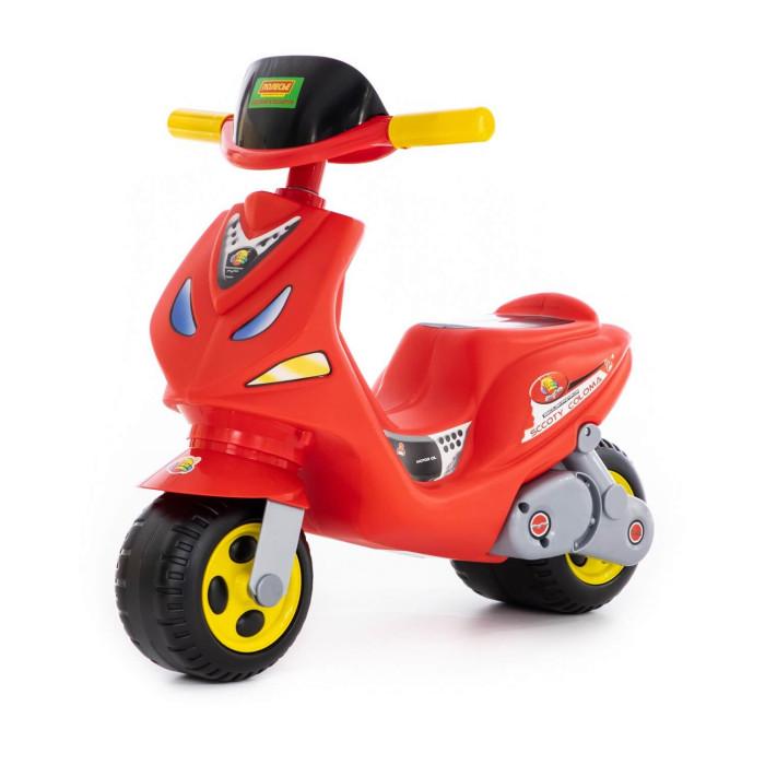 Каталка Coloma Скутер MIGСкутер MIGКаталка Coloma Скутер MIG на 2 колесах-выглядит как маленький скутер с ветровым стеклом. Выглядит все реалистично, как настоящий скутер, каких много в Риме. Необходима в каждом доме. С  Особенности: способствует развитию моторных навыков, за счет этого и умственному развитию малыша очень удобное сиденье, созданное специально для детей от 18 месяцев. Эргономика сиденья-10 баллов на этой каталке малыш быстро научится держать равновесие и отталкиваться ногами рекомендуется детям от 18 месяцев.  Размеры: 63,5x43x56 см<br>