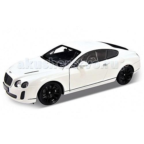 Welly Модель машины 1:18 Bentley Continental SupersportsМодель машины 1:18 Bentley Continental SupersportsМодель машины 1:18 Bentley Continental Supersports  Коллекционная модель машины масштаба 1:18 Bentley Continental Supersports.  Функции: открываются передние двери, капот, багажник, поворотом руля поворачиваются передние колеса.<br>
