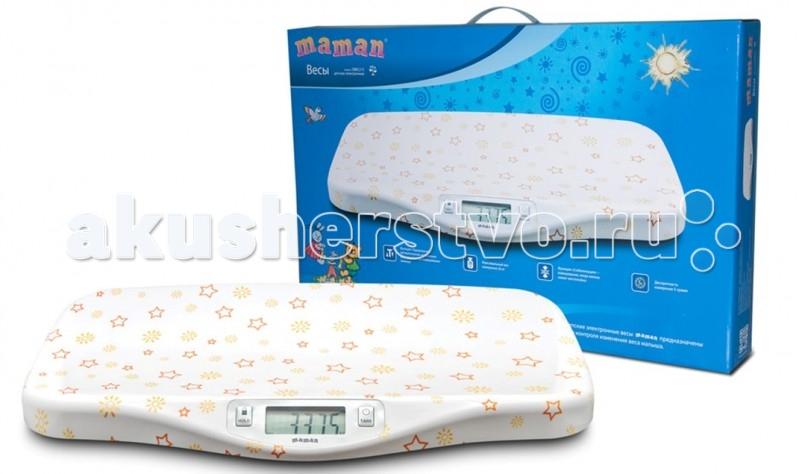 Детские весы Maman SBBC 215SBBC 215Детские весы Maman SBBC 215 предназначены для контроля изменения веса малыша.  Особенности: Функция «Тарирование» - автоматическое исключение веса пеленки при взвешивании Функция «Стабилизация» - взвешивание, когда малыш лежит неспокойно Дискретность 5 грамм Максимальный вес измерения 20 кг Жидкокристаллический дисплей 71 х 27 мм Возможность выбора единиц измерения (килограммы, фунты и унции) Индикация низкого заряда батареи Элемент питания: 1 шт. типа CR2032 (входит в комплект)<br>