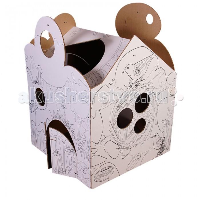 Игровые домики Yoh-ho! Игровой Картонный дом Я в домике! Фэнтэзи yoh ho kids 3d пазл куб базовый