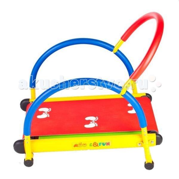 Moove&amp;Fun Тренажер механический Беговая дорожкаТренажер механический Беговая дорожкаТренажер Moove&Fun детский Беговая дорожка с механической системой нагрузки, эргономика которого специально разрабатывалась для детей. Изготовленый из безопасных для детей материалов.  Эта беговая дорожка идеально подходит для проведения тренировок детей в игровой форме, а яркая красочная расцветка привлечет внимание детей и сделает спортивные занятия веселыми и увлекательными. Может применяться как дома, так и в любых детских учреждениях, комнатах отдыха.  Длина: 70 Ширина: 51,6 Высота: 68 Максимальный вес ребенка, кг: 50<br>