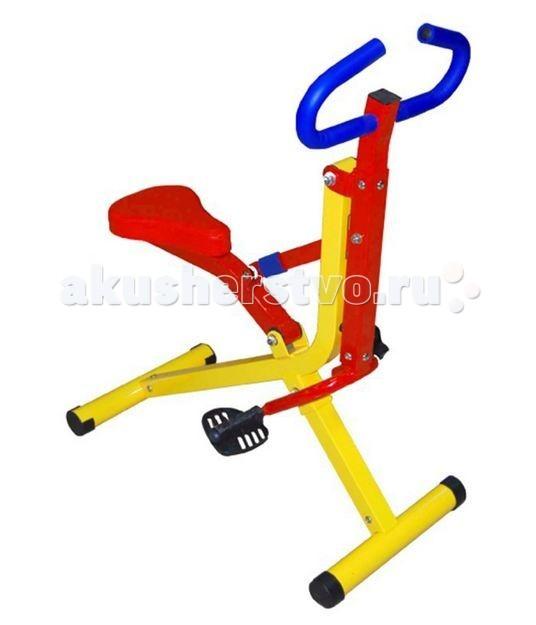 Moove&amp;Fun Тренажер механический Райдер (наездник)Тренажер механический Райдер (наездник)Тренажер Moove&Fun детский механический Райдер(наездник) выполнен в оригинальном и ярком дизайне. Идеально подходит для проведения тренировок детей в игровой форме.   Особенности:    Тренажер укрепляет сердечно-сосудистую систему, позволяет активно развивать мышцы спины, ног, плечевого пояса и пресса.   Тренажер с успехом может применяться как дома, так и в любых детских учреждениях, комнатах отдыха.  Позволяет проводить тренировки сердечно-сосудистой и дыхательной систем, способствует развитию выносливости;  Обеспечивает максимальный комфорт благодаря эргономичному дизайну сидения, рукояток и педалей;  стальная рама;  рукоятки покрыты вспененным неопреном (разновидность синтетического каучука);  регулятор нагрузки – масляный цилиндр;   Длина: 74 Ширина: 42 Высота: 86 Максимальный вес ребенка, кг: 50<br>