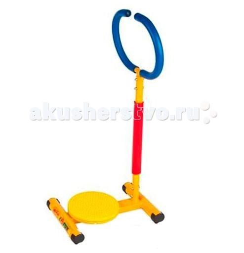 Moove&amp;Fun Тренажер механический Твистер с ручкойТренажер механический Твистер с ручкойТренажер Moove&Fun детский механический Твистер с ручкой  идеально подходит для проведения тренировок детей в игровой форме, а яркая красочная расцветка привлечет внимание детей и сделает спортивные занятия веселыми и увлекательными.   Может применяться как дома, так и в любых детских учреждениях, комнатах отдыха.   Особенности:    Тренажер способствует развитию координации движений, развивает мышцы ног;  Ручка позволяет удобно держаться во время тренировки, что является дополнительным элементом безопасности. Тренируясь, ребенок может не отвлекаться от любимых мультфильмов;  Компактная и устойчивая конструкция;   Длина: 45 Ширина: 30,5 Высота: 88,5 Максимальный вес ребенка, кг: 50<br>