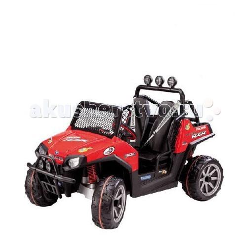 Электромобиль Peg-perego Polaris Ranger RZR OD0516Polaris Ranger RZR OD0516Polaris Ranger RZR OD0516 - мощный джип от компании Peg Perego с электроприводом для езды по твердым и неровным, «ухабистым» поверхностям, с максимальным уголом возвышения до 17%.  Электромобиль — двухместный. Посадочные места оснащены ремнями безопасности и их можно отрегулировать под рост ребёнка.   Джип оснащён износостойкими колёсами с крупным протектором, передними и задними амортизаторами, передним «кенгурятником» для смягчения удара при столкновении и настоящим FM-радио с AUX IN входом (возможно подключить внешний аудио сигнал, например MP3 плеер).  Технические характеристики: Выдерживает максимальную нагрузку до 60 кг Кол-во скоростей 3: 2 скорости вперед (max скорость - 10 км/ч) + реверс (4,5 км/ч) Управление: акселератор и тормоз совмещены в одной педали Аккумулятор 24В 12А/ч и зарядное устройство входят в комплект Время зарядки аккумулятора - 12-14 ч Время непрерывной работы при максимальной нагрузке - 45 мин.  Габариты джипа в собранном виде (ДхШхВ): 160 х 98 х 109 см<br>
