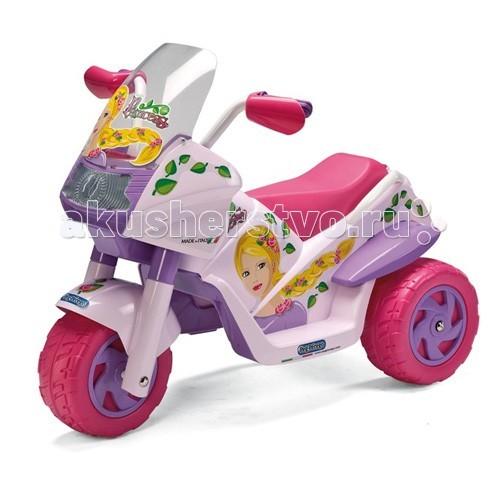 Электромобиль Peg-perego Raider Princess ED0917Raider Princess ED0917Детский трицикл от компании Peg Perego с электроприводом для езды по твердым ровным поверхностям.  Этот сказочный трицикл разработан специально для девочек. Колёса оборудованы резиновыми ободками, препятствующими скольжению.   На ручки руля установлены специальные защитные накладки, которые защищают руки ребёнка при контактах со стенами, деревьями и другими поверхностями. Ветровое стекло предотвратит попадание грязи и пыли в глаза вашего ребёнка.  Конструкция трицикла надёжна и не позволит ребёнку перевернуться даже при резких поворотах. Управление мотоциклом осуществляется одной педалью.  Одноместный Ветровое стекло Имитация фар и спидометра Максимальная нагрузка 20 кг. Начало движения - при нажатии на педаль газа, остановка при ненажатой педали Макс скорость: 4 км/ч. Время непрерывной работы при максимальной нагрузке - ок. 60 мин. Время первой зарядки аккумулятора - 18 ч (не более 24ч), время последующих зарядок - 8 ч. Аккумулятор и зарядное устройство входят в комплект Возможно приобретение дополнительного аккумулятора 6В 3,3 А/ч  Габариты в собранном виде: 92,5 х 60 х 69,3 см<br>