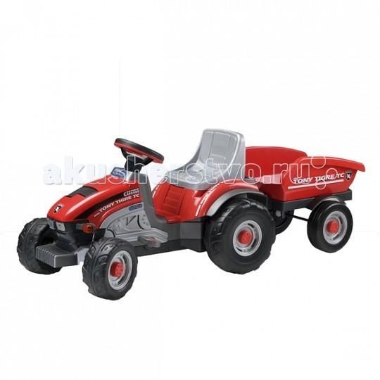 Peg-perego Mini Tony Tiger 0529Mini Tony Tiger 0529Машина детская Mini Tony Tigre 0529 с механическим приводом (с педалями).   Сиденье регулируется по росту ребёнка.  Колёса с крупным протектором обеспечивают хорошую проходимость.  Максимальный вес ребёнка 25 кг.  Габариты машины в собранном виде (ДхШхВ): 131 х 50 х 49,5 см<br>