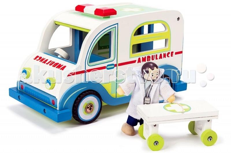 Деревянные игрушки LeToyVan Игровой набор Скорая помощь с доктором letoyvan кукла пупс