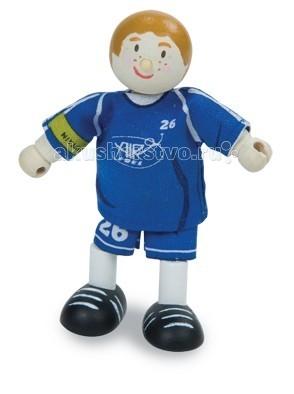 Куклы и одежда для кукол LeToyVan Кукла Футболист №26 синий letoyvan кукла пупс