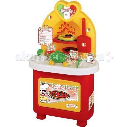 Faro Пиццерия Итальянский ресторанПиццерия Итальянский ресторанFaro Пиццерия Итальянский ресторан - приготовление пиццы - увлекательное и интересное занятие. Теперь с набором Итальянский ресторан ваш ребенок может приготовить собственную пиццу не выходя из дома.  Малыш предложит вам меню и вы сможете выбрать понравившуюся пиццу. После чего юный повар запишет ваш заказ и будет складывать нужные ингредиенты на основу.  Благодаря удобным полочками и подставкам все предметы можно аккуратно убрать, поэтому ребенок всегда сможет поддерживать чистоту на своем рабочем месте.  В комплекте: кастрюля, специи, салатник, лопата для печи, меню, пицца.  Набор предназаначен для детей старше 3-х лет.  Высота пиццерии: 80 см.<br>