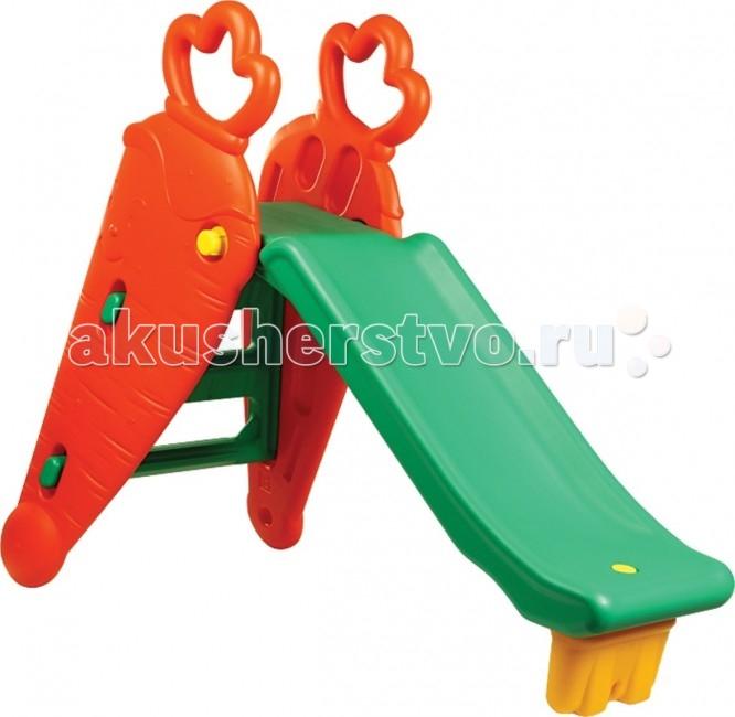 Горка BabyOne Ching-Ching Морковка SL-10Ching-Ching Морковка SL-10Материалы: полый высокопрочный структурный пластик  Основные характеристики:  - рекомендована для детей от 1.5 до 7 лет - допустимая нагрузка - до 80 кг - устойчивая и функциональная, лёгкая в сборке - для использования внутри и вне помещений  В комплект входит: пластиковая горка; лесенка; кольцо баскетбольное.  Размеры: Размер комплекса 137х65х106 см  Вес 13 кг. Допустимая нагрузка: 80 кг.<br>