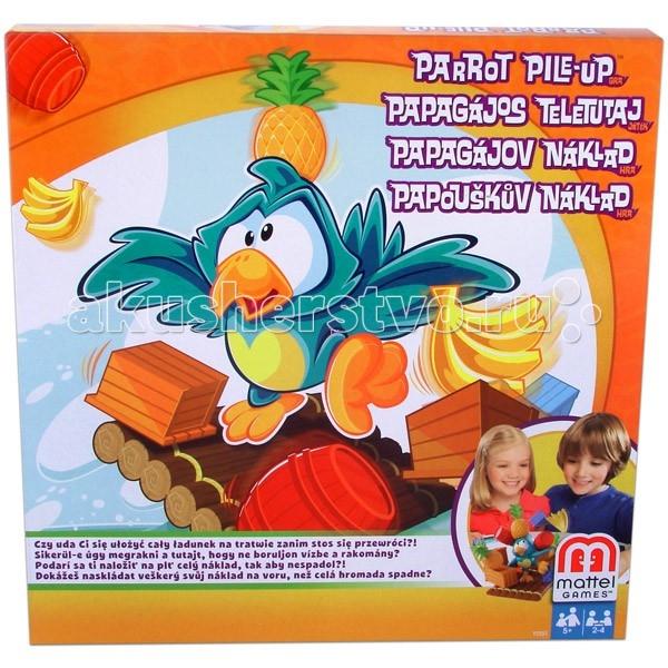 Игры для малышей Mattel Настольная игра Попугай на плоту