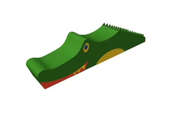 Romana Мягкий комплекс КрокодилМягкий комплекс КрокодилМягкий комплекс Romana Крокодил - мягкий игровой комплекс для детей дошкольного и младшего школьного возраста, с помощью которого дети смогут с удовольствием играть и заниматься спортом. Забавный мягкий комплекс в форме крокодила станет приятным дополнением любой детской игровой комнаты.   Прочная и устойчивая конструкция, удобная и мягкая поверхность основы защищают ребенка при падениях и максимально обеспечивают безопасность во время игры. Материал, из которого изготовлен мягкий комплекс, устойчив к деформации, разрыву, царапинам, истиранию, воздействию влаги и моющих средств, высоким температурам, световому старению, а также имеет высокую прочность на изгиб и стойкость окраски.  Яркие цвета развлекают и надолго привлекают внимание ребенка, а необычная форма позволяет самостоятельно изучать окружающую среду в игровой форме, развивая моторику и вестибулярный аппарат, ловкость и выносливость.  Материал внешнего слоя: кожзаменитель. Наполнитель: поролон. Размер комплекса: 140х20х30 см.<br>