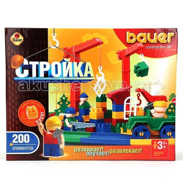 Конструкторы Bauer Стройка 200 деталей конструкторы нордпласт конструктор стройка 80 дет