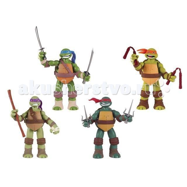 Игровые фигурки Playmates TMNT Фигурка Черепашки Ниндзя 12,5-15см со звуком игровой набор tmnt черепашки ниндзя микиланджело от 4 лет 3 предмета 90835