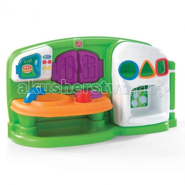 Step 2 Развивающий центр КухняРазвивающий центр КухняStep 2 Развивающий центр Кухня, разработан для самых маленьких!   Особенности: забавные формы холодильника с окошками, для развития детей  кухонька со столешницей, в которой встроена плиста со звуковыми эффектами шипения, и кран микроволновая печь с открывающейся дверкой и интерактивными кнопками открывающиеся окошки для более увлекательной игры в комплекте: кран, сковорода, яичница, сыр, молоко, апельсин и яблокотребуется 2 батареи питания АА, в комплект поставки не входят  при сборке следуйте прилагаемой инструкции товар сертифицирован<br>