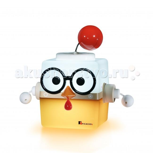 Picassoi Ночник IRO ЦыпленокНочник IRO ЦыпленокСветильник IRO, персонаж Цыпленок от южнокорейской компании «Picassoi», создан учитывая пожелания детей.   IRO — это комплект, в который входит сам светильник, чаша, и аксессуар образа животного. Поместите в чашу овощ, фрукт или другие яркие предметы и предложите малышу по цвету этого предмета подобрать цвет в нижней части светильника.   Разнообразие образов светильника и возможность их изменения в процессе игры повышают занимательность светильника IRO и развивает творческие способности ребенка.   Увлекательная игра с цветом Эмоциональное и интеллектуальное развитие ребенка Разнообразие образов Изменение цвета - регулятор синего, красного, зеленого цветов Режим спальной лампы Несомненное качество  IRO просто светится дружелюбием!   Размер светильника IRO без аксессуаров – 25 х 25 х 25 см. В комплекте: светильник IRO Picassoi, акссесуар Цыпленок, EQ-чаша, очки, адаптер<br>