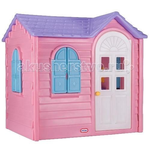 Little Tikes Игровой домик Дачный 440RИгровой домик Дачный 440RКлассический дачный домик от Little tikes с дверью в полный рост, со ставнями на всех окнах, а внутри с телефоном, раковиной, краном и плитой (варочная поверхность + выключатели).  Ставни и дверь легко отрываются и закрываются, ребенку нет необходимости прибегать к помощи взрослых. Детский домик нежно-розового цвета предназначен специально для маленьких леди, именно здесь они смогут с комфортом устроить своих кукол, а еще - организовать чаепитие с подружками.  Большое количество аксессуаров внутри.  При изготовлении домика применяется метод центробежного литья, что позволяет сделать его ударопрочным и устойчивым к перепадам температур.  Выдерживает температуру до -18C Габаритные размеры собранного домика: 127 х 104 х 131 см<br>